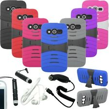 RIGID HYBRID WAVE STAND COVER FITTED HARD CASE SAMSUNG GALAXY CORE LTE + KIT