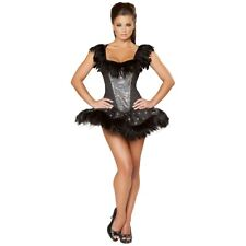 Black Swan Costume Adult Sexy Ballerina Halloween Fancy Dress