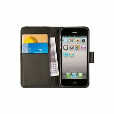 Compact Leather Wallet Case, ID & Credit Card Holder for iPhone 5 - the Chelsea