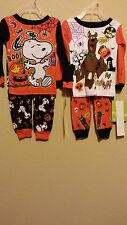 * NWT- INFANT BOY'S 2-PIECE HALLOWEEN LICENSED CHARACTERS PRINT PAJAMA SET