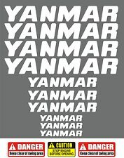 YANMAR Decals Stickers for Mini Digger / Dumper / Bagger / Pelle / Tractor