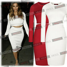 Celebrity Crop Top Knit Skirt Set Fantasy Sexy Women Dazzling More Sizes