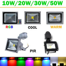 10W 20W 30W 50W RGB PIR Motion Sensor LED Flood Spot Light Outdoor Garden Yard