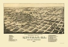 QUITMAN GEORGIA PANORAMIC (GA) BY NORRIS WELLGE & CO 1885