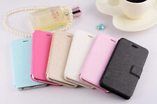 Slim Silk Pattern PU Leather Flip Wallet Case Cover Stand for iPhone 5S 5G 5