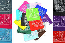 Paisley Design Fancy Bandanna Scarf Cloth Square Shape Print Trendy Cool Smart