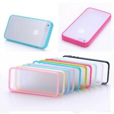 Thin Shockproof TPU + PC Transparent Back Cover Case For iPhone 4s 5s 6 Plus 6G
