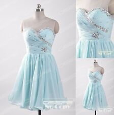 Stock Short Evening Gowns Party Prom Bridesmaid Cocktail Homecoming Dresses 6-16
