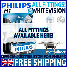 PHILIPS WHITEVISION CAR HEADLIGHT BULBS H1 H3 H4 H7 HB3 (SINGLE & TWIN PACKS)