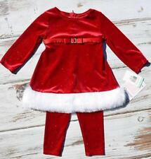 NEW NWT BONNIE BABY 2 PIECE TODDLER GIRLS CHRISTMAS OUTFIT SIZE 12 18 24 MONTHS
