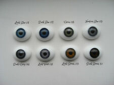 22mm FLAT Back Oval GLASS Eyes For OOAK and REBORN Dolls-Choose From 8 COLORS