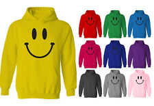 Womens Smiley Happy Face Pullover Hoodie NEW UK 12-20