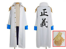 One Piece Aokiji Admiral's Jacket Costume Cosplay Anime Manga NEW
