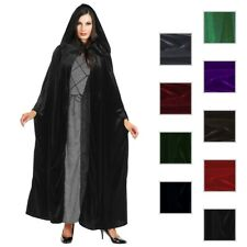 Cloak Adult Hooded Cape Mens/Womens Velvet Costume Halloween Fancy Dress