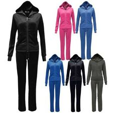New Childrens Velour Tracksuits Kids Girls Joggers Hoodys Suits Sizes Age 7 - 13