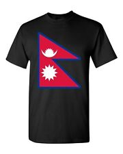 Nepal Country Flag Kathmandu Asia State Nation Patriotic DT Adult T-Shirt Tee