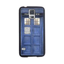 Doctor Dr Who Tardis Police Box Rubber Case For Samsung Galaxy S3, S4 or S5