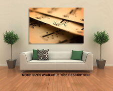 Wall Art Canvas Picture Print - Old Sheet Music Notes - 3.2
