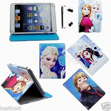 "Pen & Cute Frozen Cartoon Leather Case Cover For 7"" 7-inch Android Tablet"