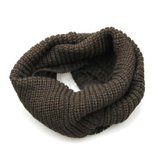 Warm Winter Men's Large Infinity 2 Circle Cable Knit Cowl Neck Long Scarf Shawl