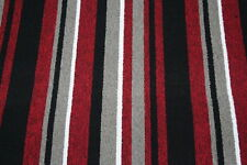 Red Black Stripe Carpet Quality Berber! Any Room Hall Stairs Landing Felt Backed