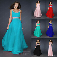 On Sale Long Beaded Women Bridesmaid Evening Dresses Formal Prom Party Ballgown