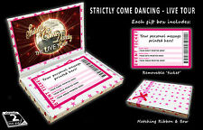 STRICTLY COME DANCING TOUR Personalised Ticket Gift Box