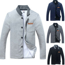 2014 New Hot Men's Slim Stand Collar Slim Sweater Hoodie Casual Warm Jacket Coat