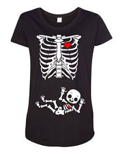 Maternity Baby Boy Skeleton DT Child Pregnant Funny Humor Black T-Shirt Tee