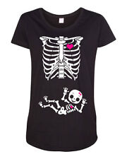 Maternity Baby Girl Skeleton Love Child Pregnant DT Funny Humor T-Shirt Tee
