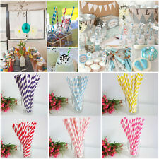 25Pcs Multi Color Biodegradable Paper Drinking Straws Party Wedding Decoration