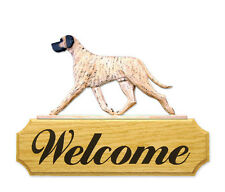 Great Dane (Natural) Welcome Sign. Home,Yard & Garden Dog Wood Products & Gifts.