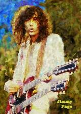 JIMMY PAGE Led Zeppelin Canvas Giclee Print Original Art Poster Two Sizes  #113