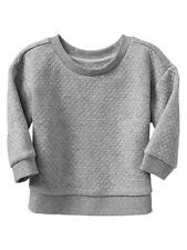 Baby Gap Girl Quilted Sweatshirt Heather Grey New With Tags