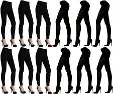 Warm Winter Footless Footed Tights White Navy Black Brown LT100-LT101