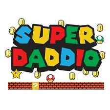 Super Daddio Funny T SHIRT Super Mario Dad Father To Be Humor Quality Tee Gift