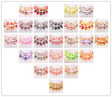 NEW 10pcs SILVER MURANO bead LAMPWORK fit European Charm Bracelet jewelry choice
