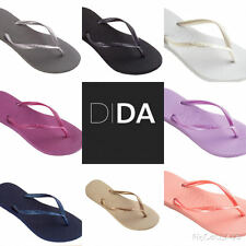 Havaianas Slim Black/Gold/White/Silver/Pink/Blue Women's Flip Flops all sizes
