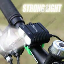 Newest XM-L2 X2 Cree LED Bike Lights Front Cycling Bicycle Light Set Rechargable