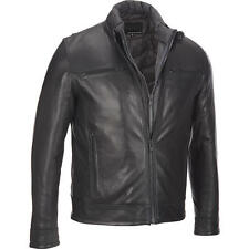 Wilsons Leather Mens Front Zip Leather Jacket W/ Zipout Puffy Vest