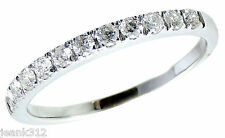 Diamond Wedding Ring Band 0.30 Carat Womens 14K White Gold Classic Traditional