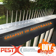 Pest-X Bird Spikes Clear Polycarbonate Animal & Bird Deterrent Pest Control 60cm