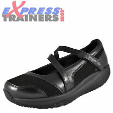 Skechers Womens Mary Jane Hyperactive Shape Ups Toning Shoes Black *AUTHENTIC*