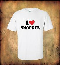 I LOVE SNOOKER T Shirt 100% Quality Cotton GIFT FOR THE SNOOKER PLAYER
