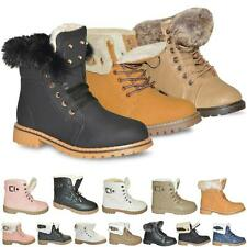 Women Ladies New Fur Lined Snow Winter Quilted Warm Hi Top Ankle Trainers Boots