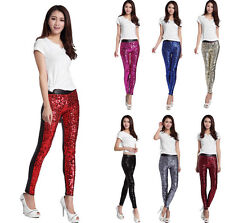 Women Sexy fashion Skinny Colorful Print Leggings Stretchy Jeggings Pencil Pants