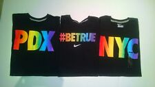 NIKE MENS RAINBOW BE TRUE NYC PDX COLLECTION SHIRT 707029 707028 707018 S, L, XL