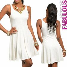 Womens Sexy Sleeveless Dress Size 6 8 10 Skater Style Party Evening Casual Wear