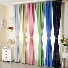PAIR STAR TYPE RING TOP BLACKOUT EYELET READY MADE CURTAINS