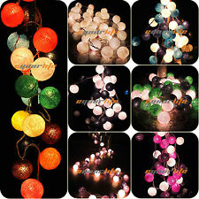 20/35 COTTON BALL FAIRY LED STRING NIGHT LIGHTS WEDDING PARTY CHRISTMAS DECOR